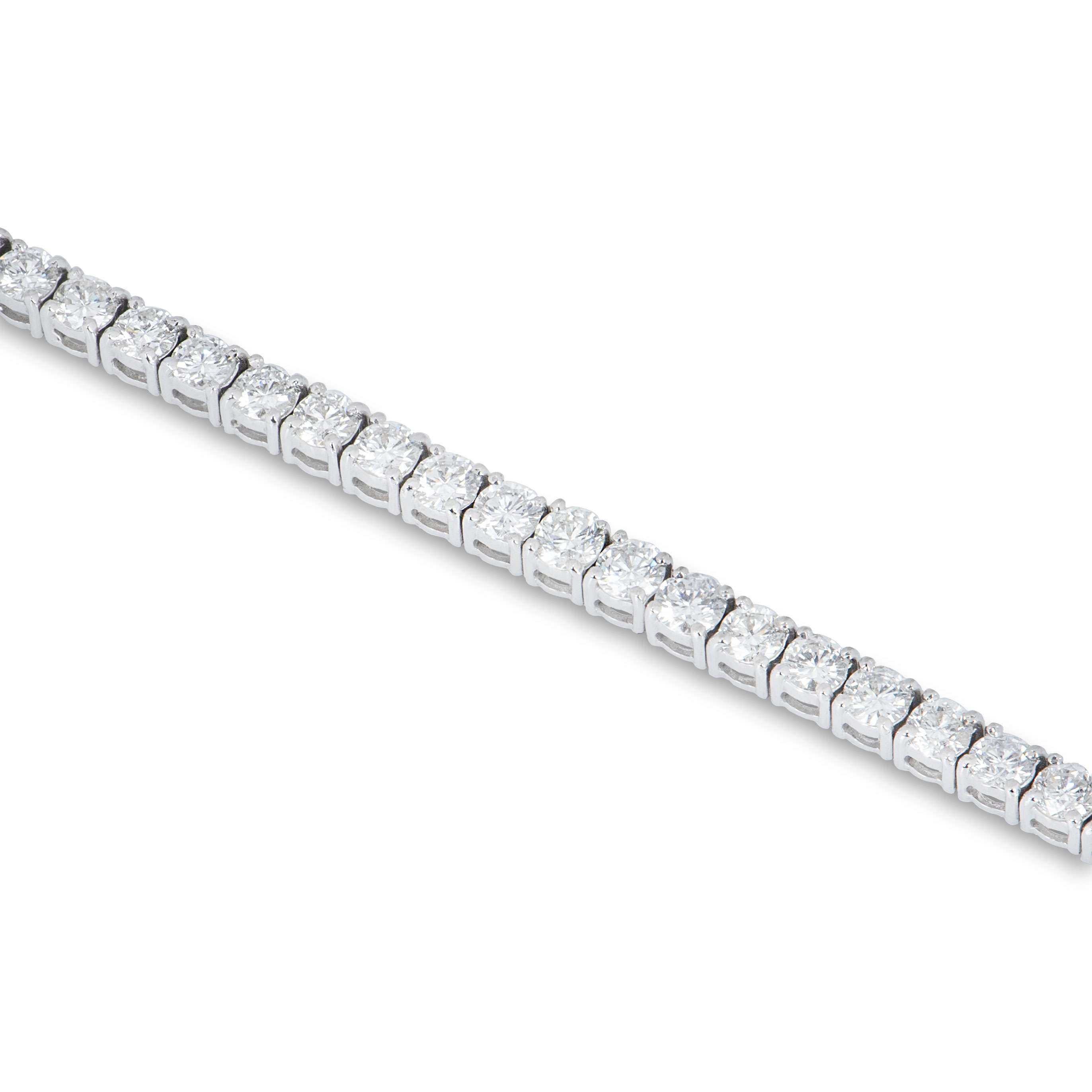 White Gold Diamond Line Bracelet 5.12ct